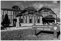 Visitor center. Bryce Canyon National Park, Utah, USA. (black and white)