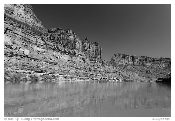 Colorado River Canyon. Canyonlands National Park (black and white)