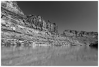 Colorado River Canyon. Canyonlands National Park, Utah, USA. (black and white)