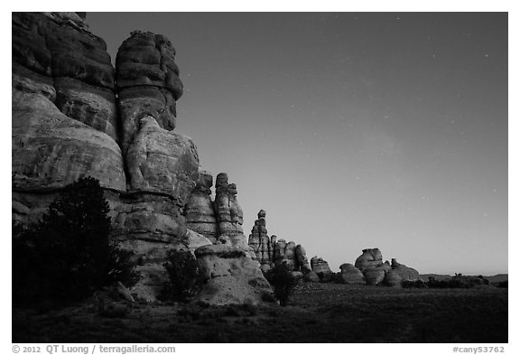 Dollhouse at dusk. Canyonlands National Park (black and white)