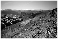 Surprise Valley from above. Canyonlands National Park, Utah, USA. (black and white)