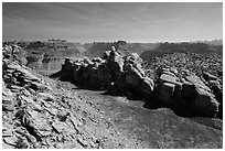 Surprise Valley, Maze District. Canyonlands National Park, Utah, USA. (black and white)