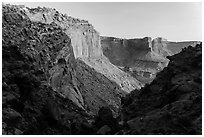 Cliffs at sunset, Island in the Sky. Canyonlands National Park ( black and white)