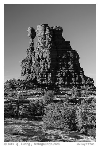 Eternal Flame, late afternoon. Canyonlands National Park (black and white)