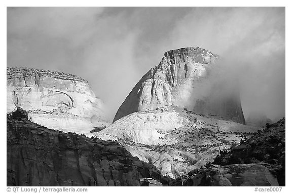 Capitol dome. Capitol Reef National Park (black and white)