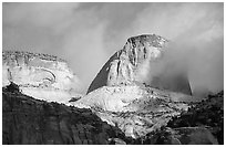 Capitol dome. Capitol Reef National Park, Utah, USA. (black and white)