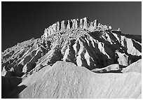 Cliffs and badlands. Capitol Reef National Park ( black and white)