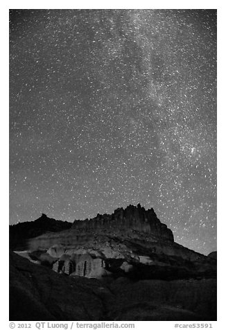 Castle by night. Capitol Reef National Park (black and white)