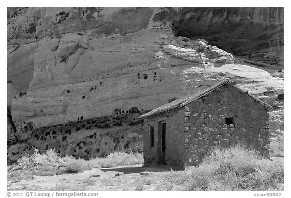 Behunin Cabin. Capitol Reef National Park (black and white)