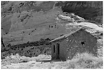 Behunin Cabin. Capitol Reef National Park ( black and white)