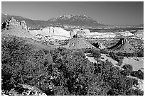Waterpocket Fold from  Burr trail, afternoon. Capitol Reef National Park ( black and white)