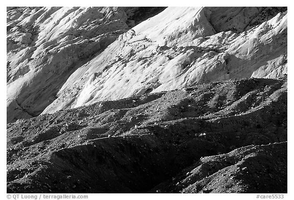 Waterpocket Fold and Red slide, sunrise. Capitol Reef National Park (black and white)