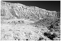 Colorful Cliffs. Capitol Reef National Park ( black and white)