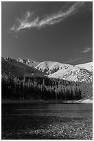Teresa Lake. Great Basin National Park ( black and white)