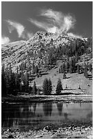 Stella Lake. Great Basin National Park, Nevada, USA. (black and white)