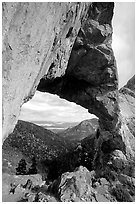 Lexington Arch, afternoon. Great Basin National Park ( black and white)