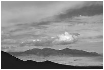Desert Mountain ranges. Great Basin National Park ( black and white)