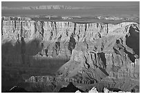 Desert View, sunset. Grand Canyon National Park ( black and white)