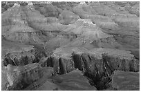 Granite Gorge, dusk. Grand Canyon National Park, Arizona, USA. (black and white)
