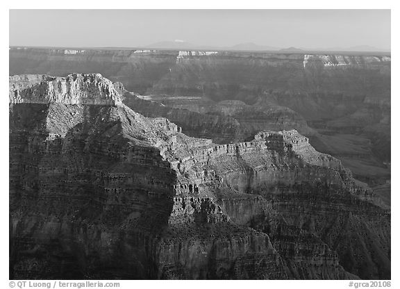 View from Point Sublime, late afternoon. Grand Canyon National Park (black and white)