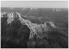 View from Point Sublime, late afternoon. Grand Canyon National Park ( black and white)