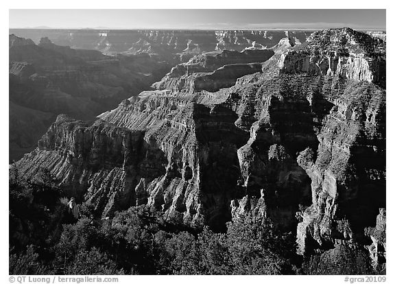 Canyon landscape. Grand Canyon  National Park (black and white)