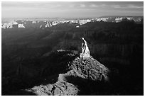 Mount Hayden from Point Imperial, late afternoon. Grand Canyon National Park, Arizona, USA. (black and white)