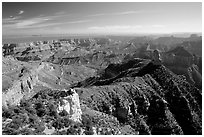 View from Point Imperial, morning. Grand Canyon National Park, Arizona, USA. (black and white)