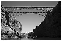 Navajo Bridge. Grand Canyon National Park ( black and white)