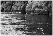 Sandstone and Colorodo River. Grand Canyon National Park ( black and white)