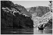 Marble Canyon of the Colorado River. Grand Canyon National Park ( black and white)
