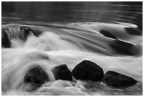 Boulders and rapids. Grand Canyon National Park ( black and white)