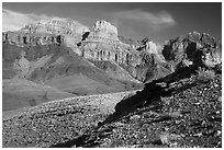 Escalante Butte from below. Grand Canyon National Park ( black and white)