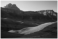 Buttes and mesas, late afternoon. Grand Canyon National Park ( black and white)