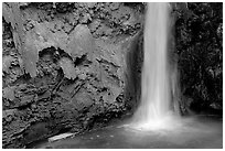 Pool and base of Mooney falls. Grand Canyon National Park, Arizona, USA. (black and white)