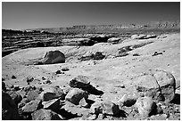 Esplanade, mid-day. Grand Canyon National Park, Arizona, USA. (black and white)