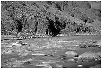 Rafting on  Colorado River. Grand Canyon National Park ( black and white)