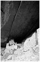 Round tower in Cliff Palace. Mesa Verde National Park, Colorado, USA. (black and white)