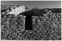 Far View House, early morning. Mesa Verde National Park, Colorado, USA. (black and white)