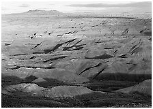 Painted Desert, early morning. Petrified Forest National Park ( black and white)