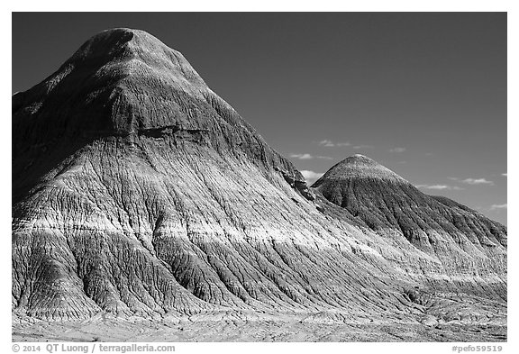 The Tepees. Petrified Forest National Park (black and white)