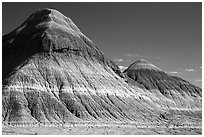 The Tepees. Petrified Forest National Park ( black and white)