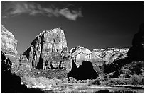 Angel Landing. Zion National Park, Utah, USA. (black and white)
