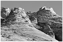 Hoodoos near Canyon View, early morning. Zion National Park, Utah, USA. (black and white)