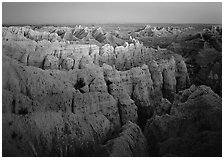 Sheep Mountain table. Badlands National Park ( black and white)