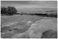 White River, Stronghold Unit. Badlands National Park, South Dakota, USA. (black and white)
