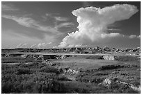 Stronghold Unit. Badlands National Park, South Dakota, USA. (black and white)