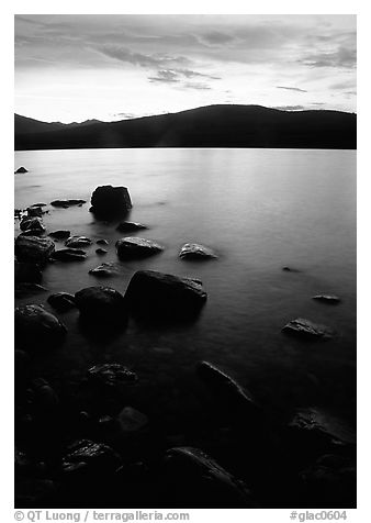 Lake McDonald at sunset. Glacier National Park, Montana, USA.
