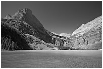 Grinnell Lake, Angel Wing, and the Garden Wall. Glacier National Park, Montana, USA. (black and white)