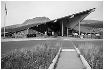 Saint Mary visitor center. Glacier National Park ( black and white)